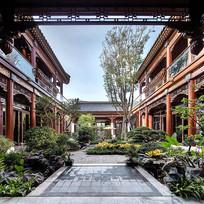 三亚中式合院景观意向