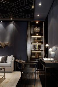 商业风格客厅设计意向