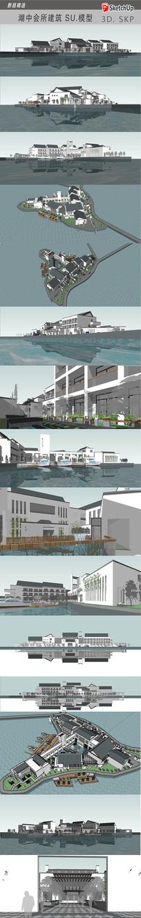 水景会所建筑模型