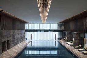 现代简约售楼处室内泳池