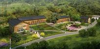乡村规划建筑鸟瞰图