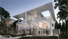住宅别墅透视图