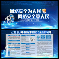 2018校园网络安全宣传展板