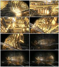 3D黄金质感logo片头模板