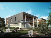 花园式行政楼建筑模型