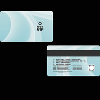 蓝色会员卡模版设计