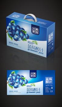 简约蓝莓汁饮料包装设计模板