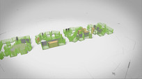 建筑演变LOGO动画AE模板