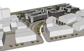 现代学校景观模型