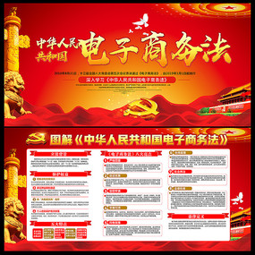中华人民共和国电子商务法展板
