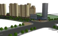 住宅群景观建筑规划