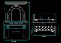 别墅室内壁炉与其他节点详图