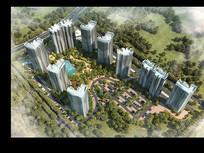 城市高层建筑规划小区PSD