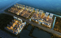 城市区域规划建筑PSD效果图
