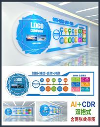 创意大气企业文化墙设计