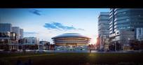 创意圆形建筑PSD效果图