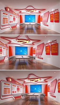 党建教育活动会议室设计方案 3ds