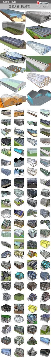 大棚温室SU模型