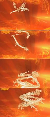 金色浴火龙腾有音乐背景视频