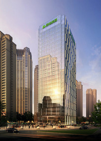 集团大楼高层建筑PSD效果图