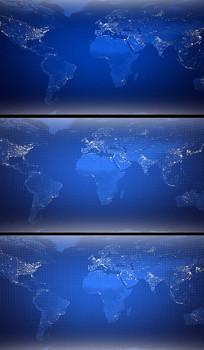 科技LED世界地图视频背景