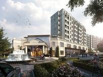 欧式风格建筑景观模型