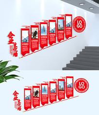 企业历程简介楼梯文化墙