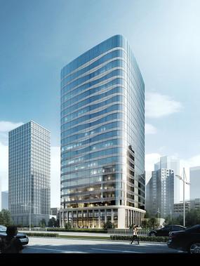 现代化高层PSD建筑效果图