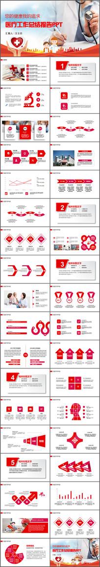 医生医疗护士护理工作报告PPT模板