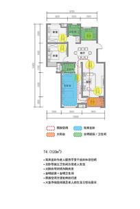 120平米舒适家庭户型图