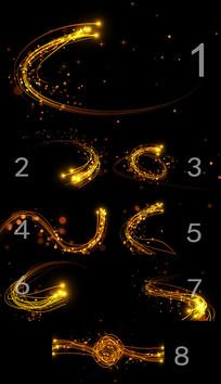 8款原创粒子光线带透明通道