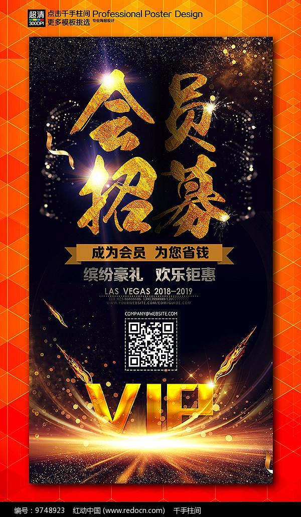 VIP会员招募促销宣传海报图片
