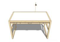 白色极简书桌