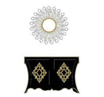 雕花黑色欧式装饰柜