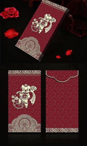 高档创意喜庆大气猪年红包模板