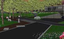 广场景观模型