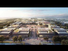 国际化大型商城建筑鸟瞰模型