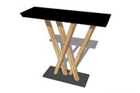 黑色简约边桌