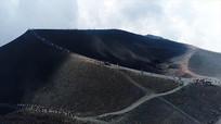 火山喷发实拍视频