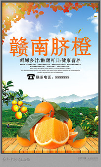 简约赣南脐橙宣传海报