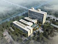 集装箱式医院建筑鸟瞰效果图