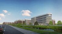 康复医院建筑景观效果图