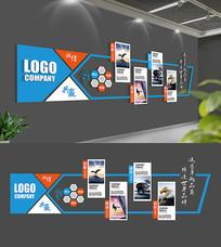 蓝色科技企业文化墙展板