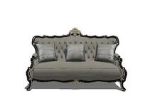 欧式三人沙发模型 skp