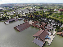 上海松江广富林遗址鸟瞰图