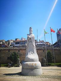 圣母石像雕塑景观意向图