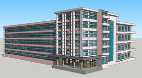 宿舍楼建筑模型