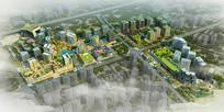 特色创意规划小区建筑鸟瞰图