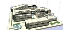 武汉黄陂一中十八班教学楼设计