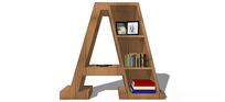 现代A字型书柜设计